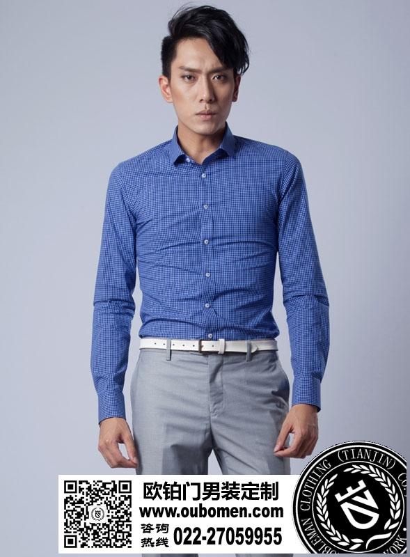 衬衫搭配法 蓝衬衫
